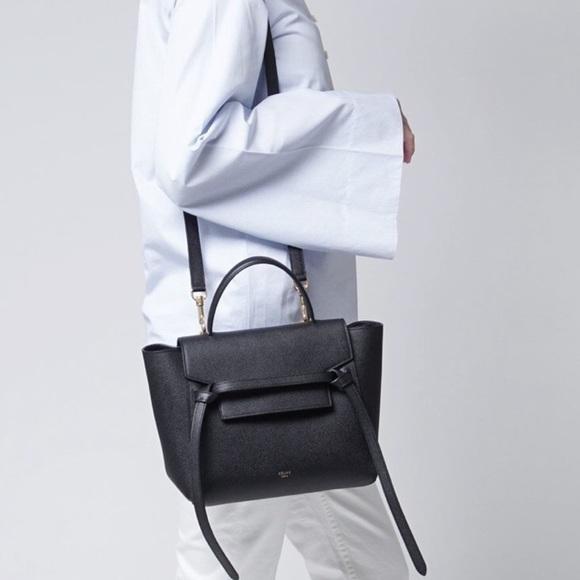Celine Handbags - Celine Black Belt Bag
